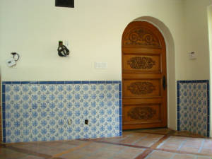 Traditional Portuguese Blue and White Floral Tiles