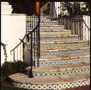 spanish reproduction tiles stair risers